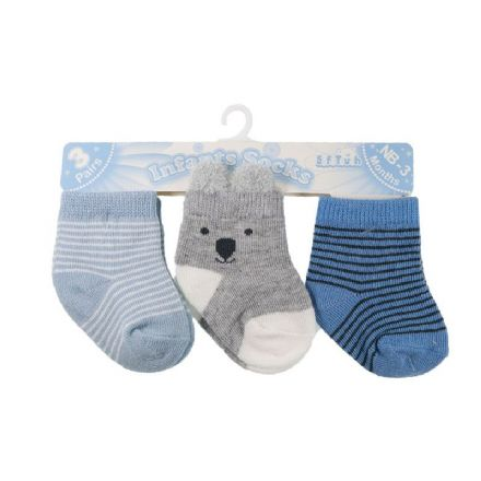 0-12 Months 3 Pairs of Baby Bear Socks